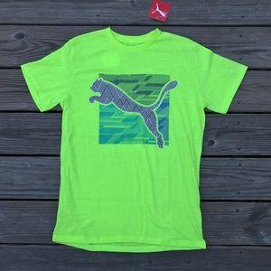 Puma Boys Tee Short Sleeve T Shirt Boys Top